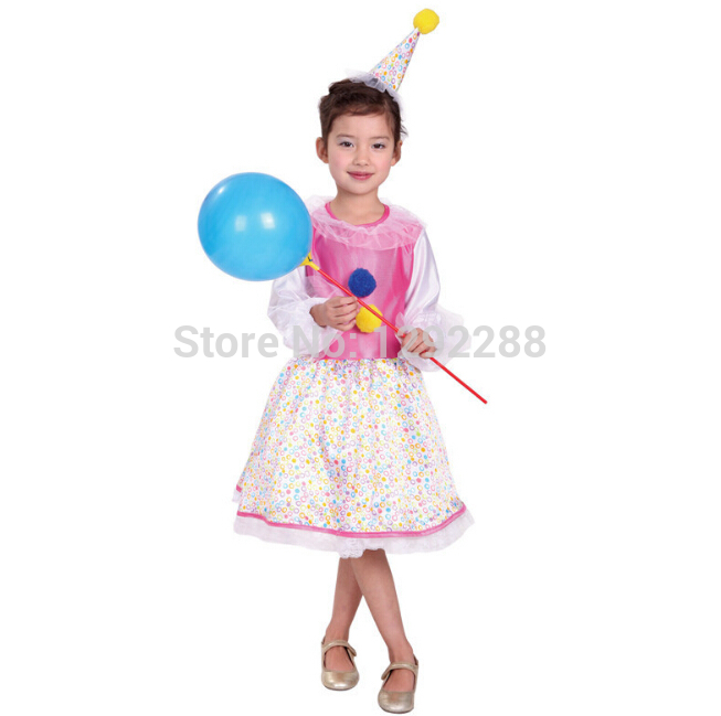 Free shipping,cosplay Halloween Costume kindergarten children costume cute little clown costume cosplay dress clothing