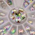 36 Pcs/Wheel 3D Colorido Nail Art Nail Art Pedrinhas Glitters Decoração Dica Manicure