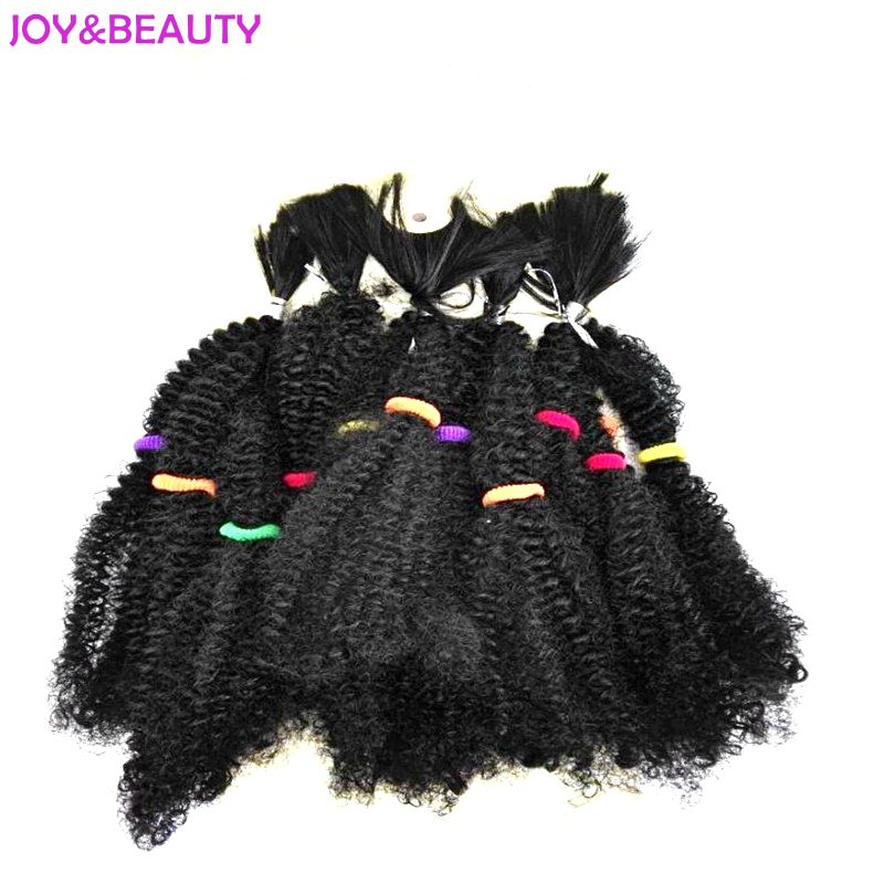 JOY&BEAUTY Hair Curly 20 Pieces/pack Cabelo Synthetic Hair Extensions Noble Kinky Bulk For Braiding Marley Braid
