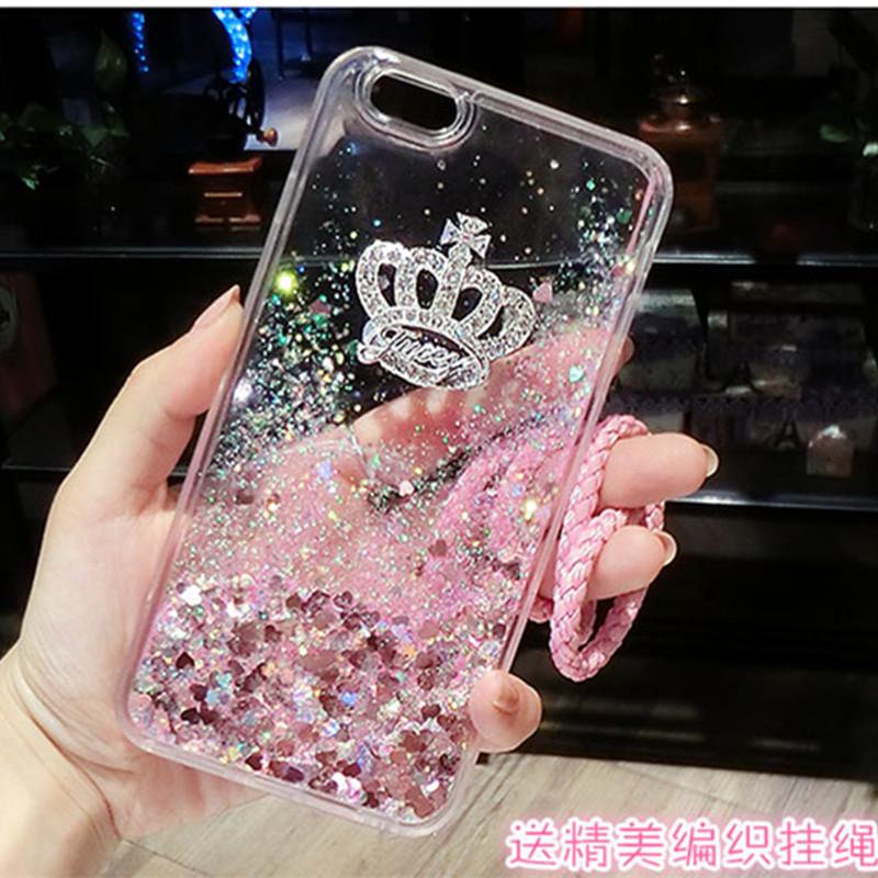 For Samsung C5 C7 Case Quicksand Dynamic Liquid Glitter Sand Silicone Rhinestone Phone C ...