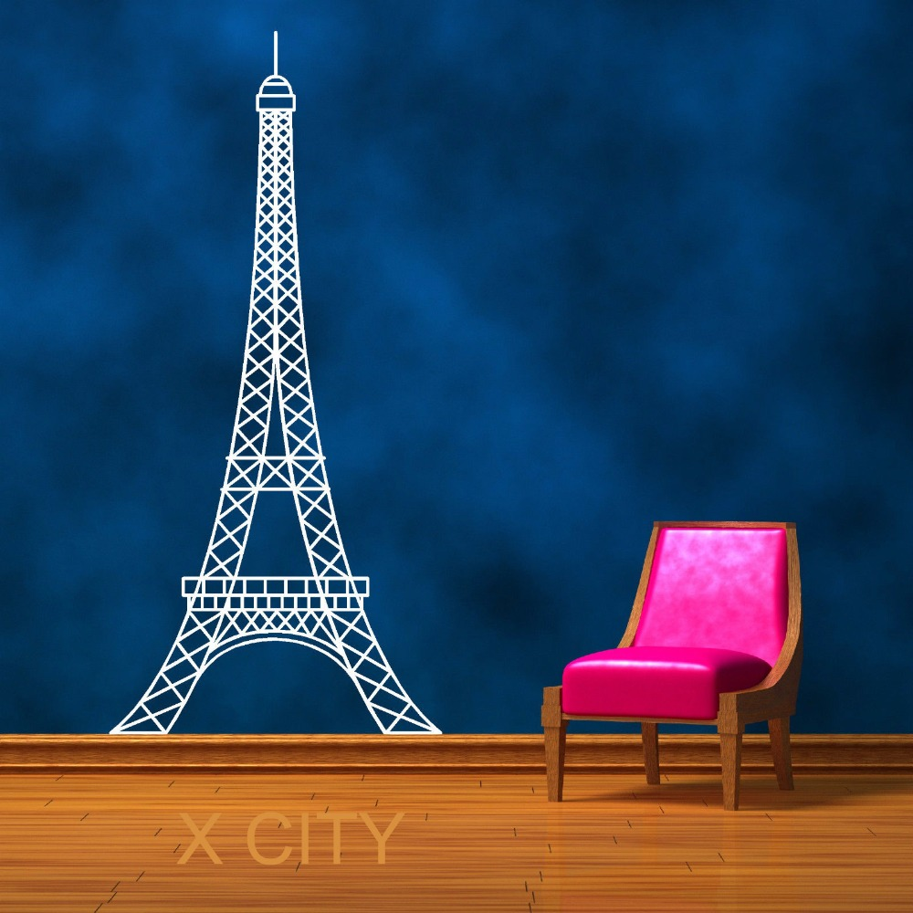 Eiffel Tower Paris Landmark Scenery Wall Sticker Vinyl Art
