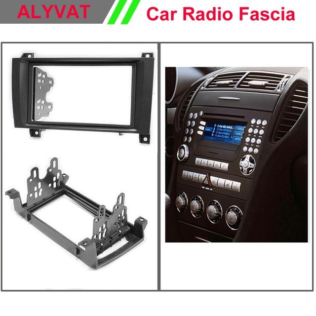 Car Radio Stereo Face Facia Surround Trim Kit For Mercedes Benz Slk R171 Stereo Facia Surround Install Trim Fit Dash Kit In Fascias From Automobiles