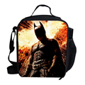 Fashion school thermal lunch bag pattern personalized kids lunch bags for boy cartoon lunch bags Batman lunch bags for children