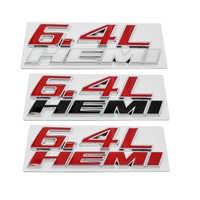 Car Sticker Funny 3D Metal 6.4L HEMI Car Sticker Emblem Badge For  for Jeep Dodge Chrysler 6.4L SRT Decal JDM Stickers
