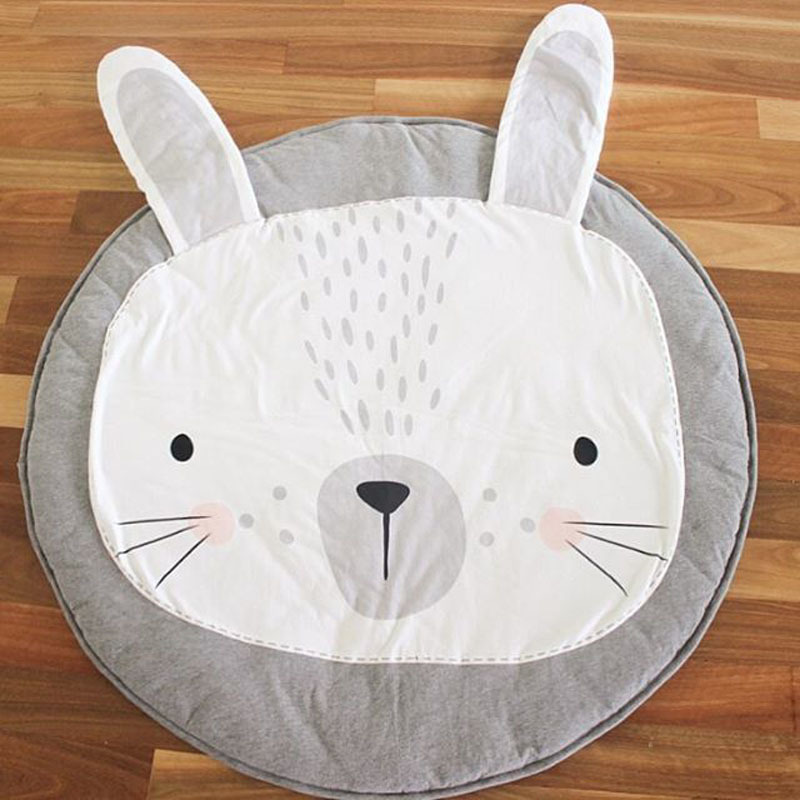 Kids Play Mats Rugs CarpetS Toddler Lovely Animal Beach Mat for Camping Floor Playing Mattress Rabbit Mats