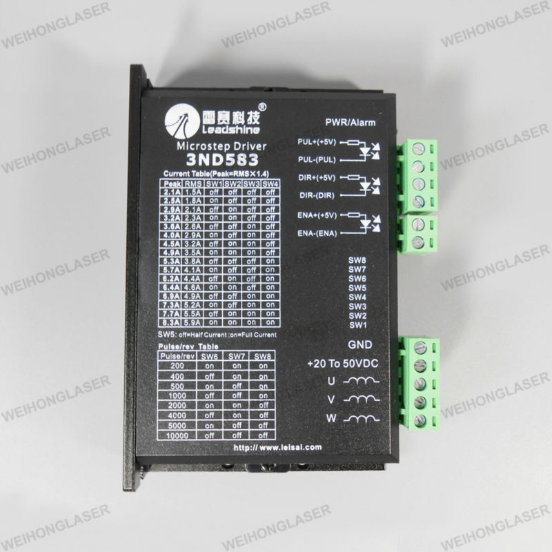 Leadshine 3ND583 3 Phase Stepper Motor Driver 8.3A 50VDC leadshine 2 phase microstep driver m542 05 step motor driver 20v 50vdc 1 2a 5 04a for cnc router