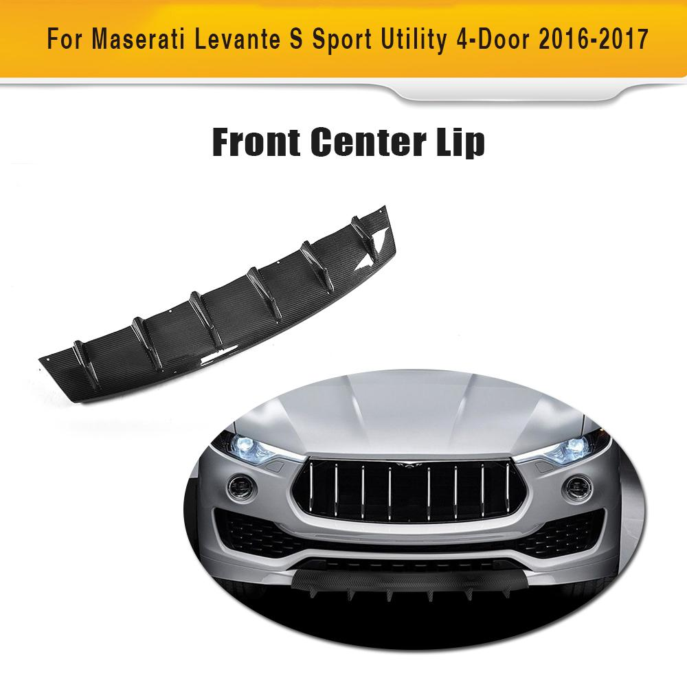 Carbon Fiber & FRP Car Racing Front Lip Apron For Maserati Levante 4-Door 2016-2017
