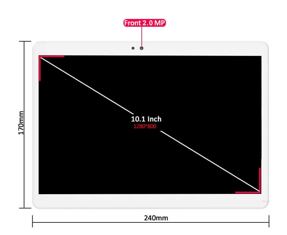 10 بوصة اللوحي الثماني النواة 4GB RAM 64GB ROM 8 النوى الروبوت 8.0 OS 1280*800 5.0MP IPS الاطفال 3G 4G LTE اللوحي 10 10.1 + هدايا