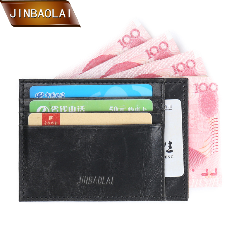 JINBAOLAI Vintage Slim Mini Wallet PU Leather Credit ID Card Holder Case Purse Travel Wa ...