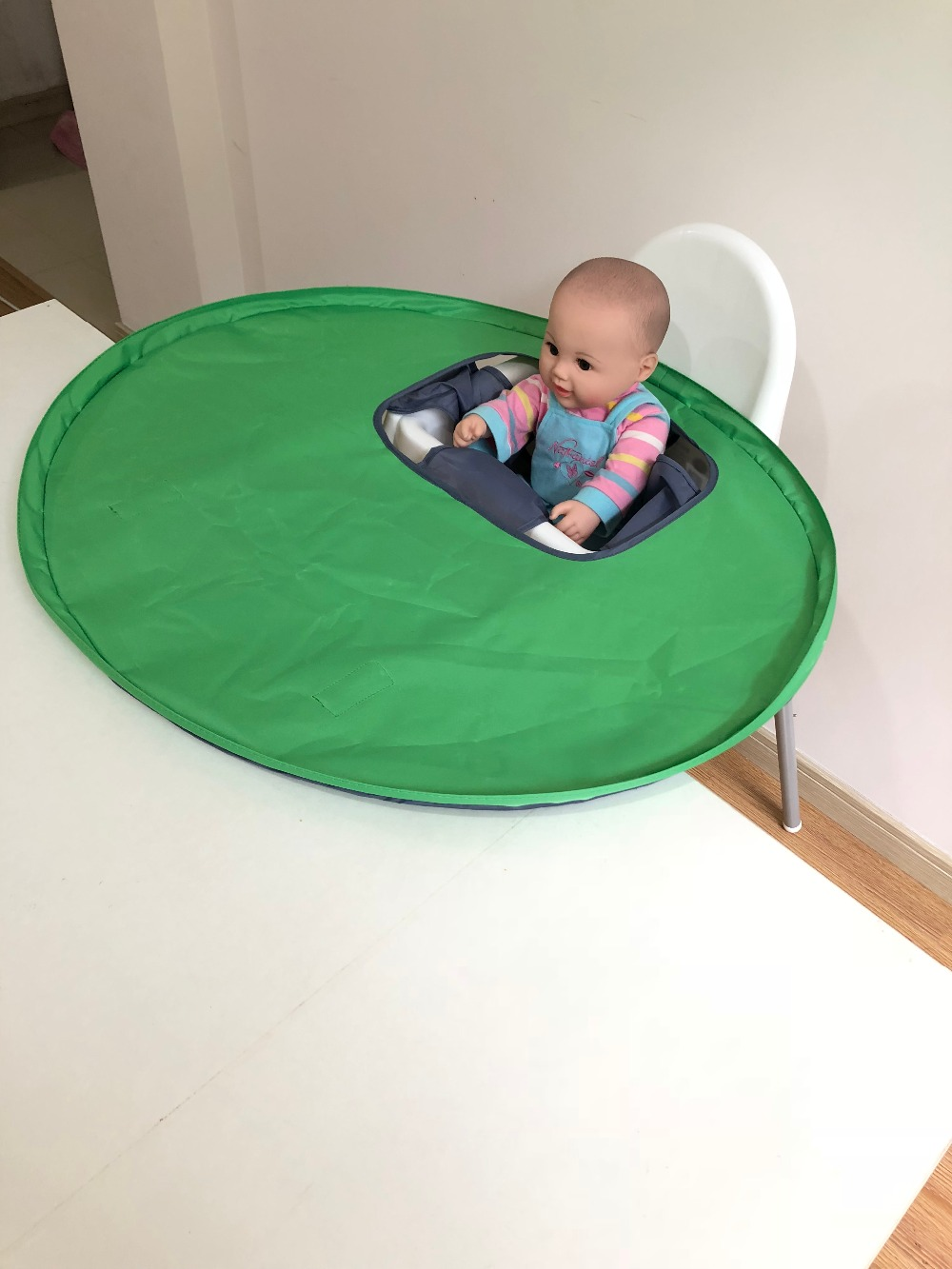 High Chair Table Cover Intex Inflatable Pull Out 3 Colors Restaurant And Home Baby Feeding Saucer Highchair Germ Prevents Food Toys Falling To Floor In Highchairs From Mother