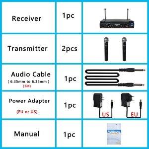 Image 5 - Freeboss KU 22 50M Werkbereik Dual Channel 2 Handheld Mic Zender Professionele Karaoke Uhf Draadloze Microfoon Systeem