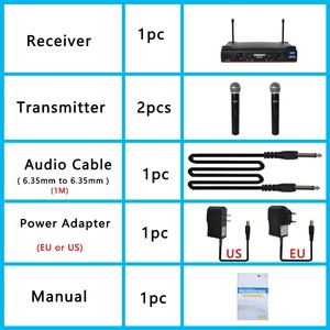 Image 5 - Freeboss transmisor de micrófono de mano KU 22 de largo alcance, doble canal, 2, sistema UHF PARA Karaoke profesional con micrófono inalámbrico