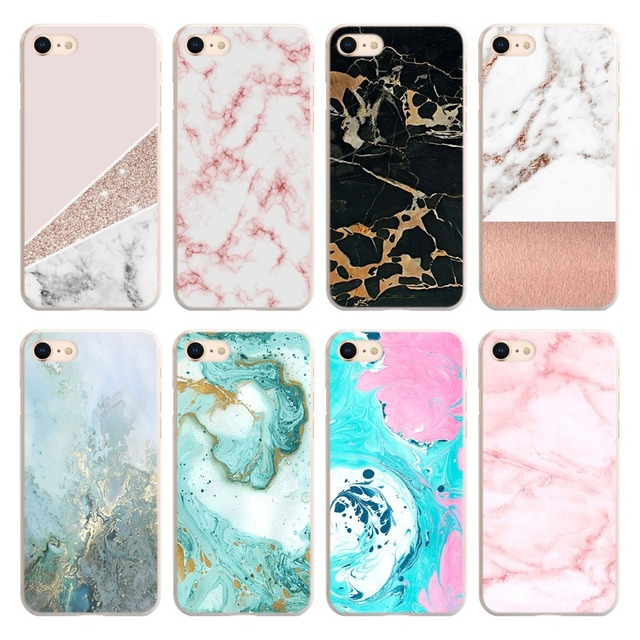 online store 75962 462c1 US $1.91 20% OFF|Watercolor Marble tiles stone Phone Case for Apple iPhone  SE 5S 6 6s 7 8 Plus PC Hard case for iPhone X XS XR XS MAX Case Cover-in ...