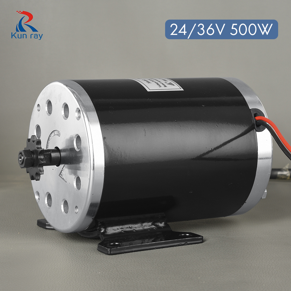 MY1020 DC Motor Electric Bicycle Motor E-Scooter Motor 500 W 24 V/36 V/48 V