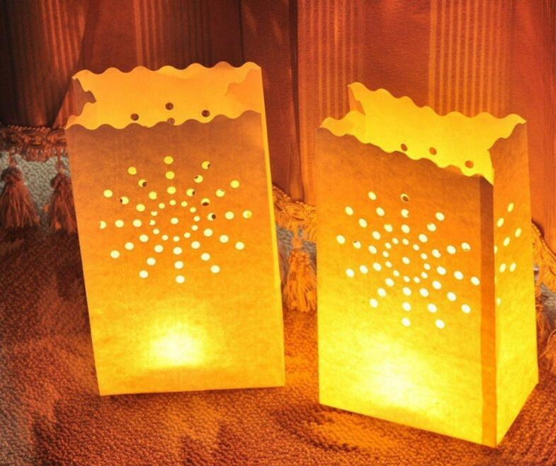 Heart Shaped Tea Light Holder Luminaria Paper Lantern Candle Bag For Christmas Party Outdoor Wedding Decoration 2018 In Lanterns From Home Garden On