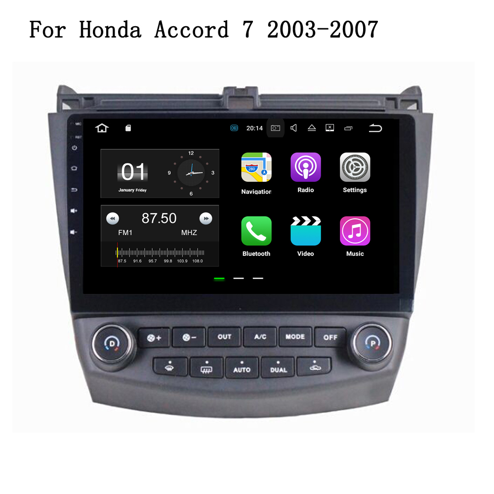 Android 712 Car Gps Navigation Auto Multimedia Head Unit For Honda Accord 7 2003 2007 Hd Screen 16g Cpu 2g Ram 3g 4g Headphones