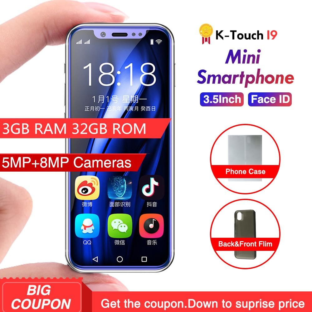 Menor K-TOUCH I9 4G 3 GB 32 GB Armação de Metal do telefone Móvel Android Telefone 8.1 ID Rosto WiFi GPS chidren Telefone Móvel