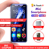 Smallest K TOUCH I9 4G Mobile phone 3GB 32GB Metal Frame Telefone Android 8.1 Face ID WiFi GPS Chidren Mobile Phone