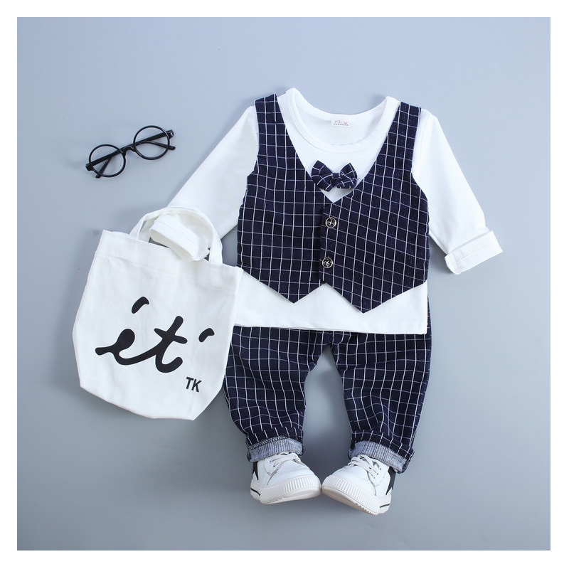 Children clothing suit shirt shirt + trousers boy wedding dress childrens gentleman casual chic suit free ship (2017) new 1-3 Y