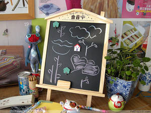 Magnetic Blackboard Wooden Small To Huts House Can-Be-Linked Dual-Use Korean