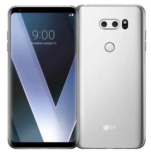 """Разблокированный LG V30 6,"""" Qualcomm835 4 Гб ОЗУ 64 Гб/128 Гб ПЗУ двойная задняя камера(без иврита/польского языка - Цвет: Серебристый"""