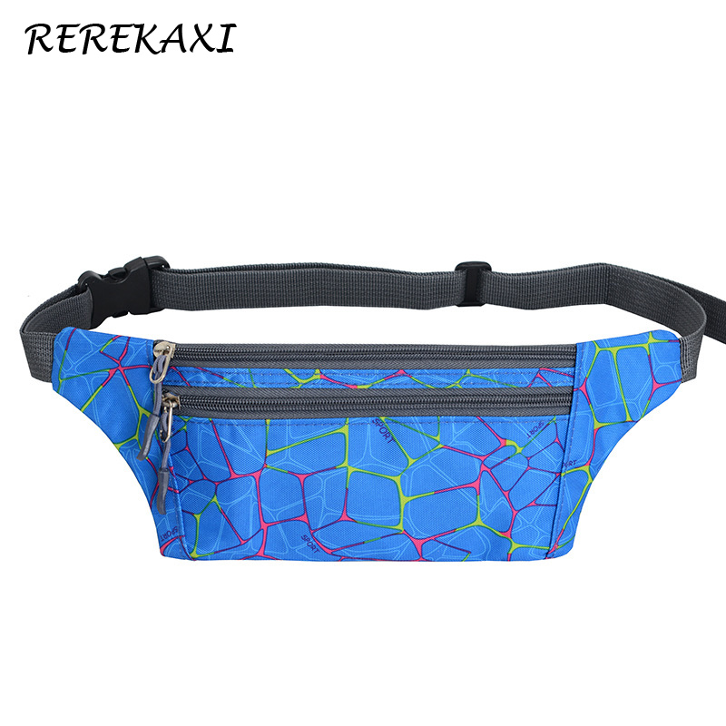 REREKAXI Fashion Women's Fanny Pack,Hiking Men's Waist Bag,Travel Waterproof Nylon Money Belt Bag Mobile Phone Bags