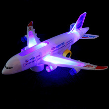 Airbus A380 passenger plane toy plane electric universal music light children's stunning model airplane