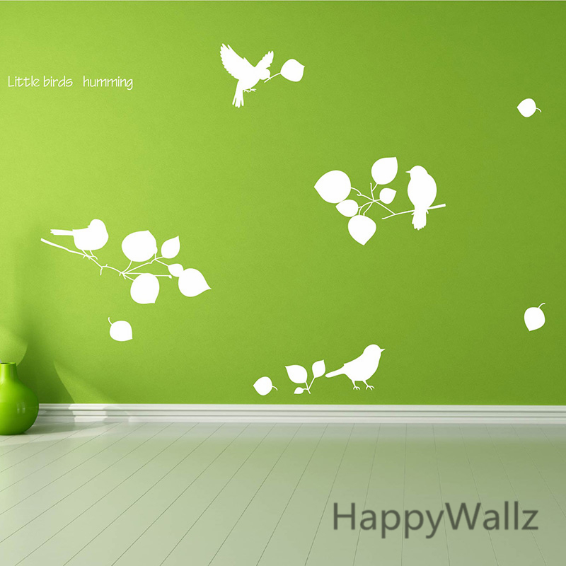 Tree Branch Wall Sticker Birds Leaves Tree Wall Decal DIY Decorating Tree Wall Decor Removable Wall Decoration T11