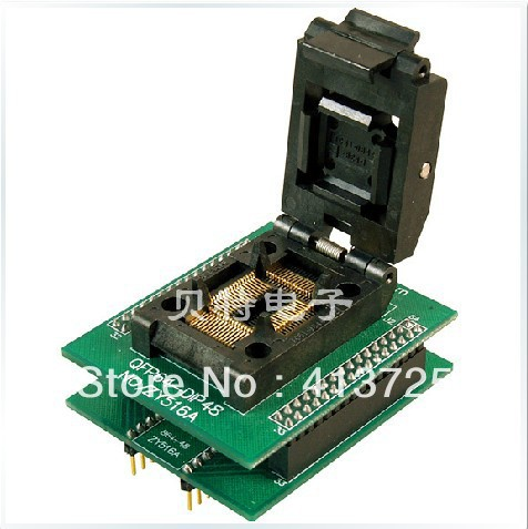Ucos QFP64 SmartPRO X5/X8 adapter adapter block, ZY516A block burning test, ic qfp32 programming block sa636 block burning test socket adapter convert