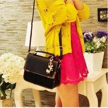 Hot fashion classic design schlösser platin paket candy farbe elegante dame frauen handtasche schultertasche messenger bag 5 farben
