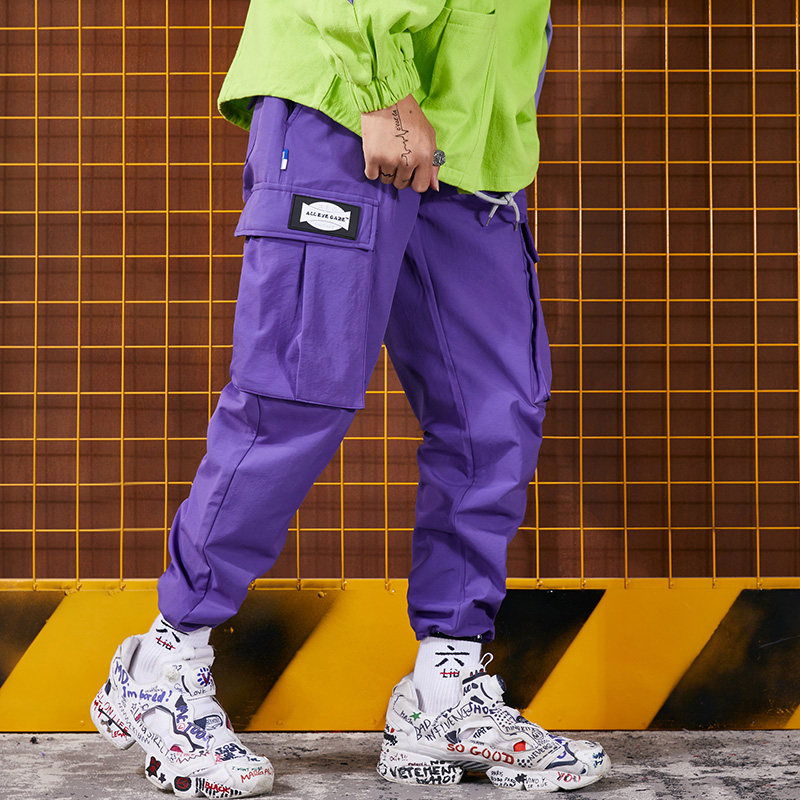 Hip hop original high street hiphop street dance casual rope drawstring pants men