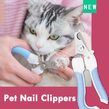 Stainless Steel Cat nail clippers cutter with lock show with cat
