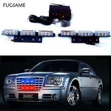 2x9 LED Red Blue White Green Amber Yellow strobe light led  flash Fire Flashing Blinking Strobe Emergency Car Lights Kit