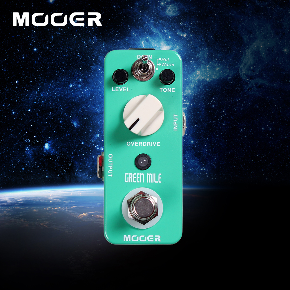 Mooer Mini Green Mile Warm/ Hot 2 Working Modes Overdrive Sound Guitar Effects Pedal With True Bypass mooer flex boost guitar pedal with wide gain range boost enough working along as a best overdrive