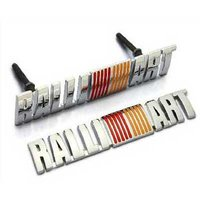 Car Styling Accessories Chromed Emblem Badge Decal Sticker RALLIART Front Grille For MITSUBISHI LANCER