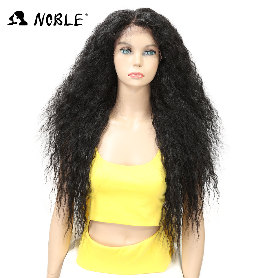 Noble Hair Lace Front ombre blonde Wig 28 inch Long wavy red african american Synthetic Wigs For Women 2 COLOUR Free Ship