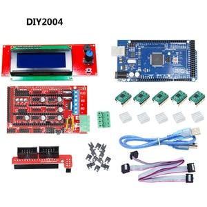 Image 5 - CNC 3D Printer Kit for Arduino Mega 2560 R3 + RAMPS 1.4 + LCD 2004 + A4988 Stepper Driver Motherboard 3d printer arduino kit