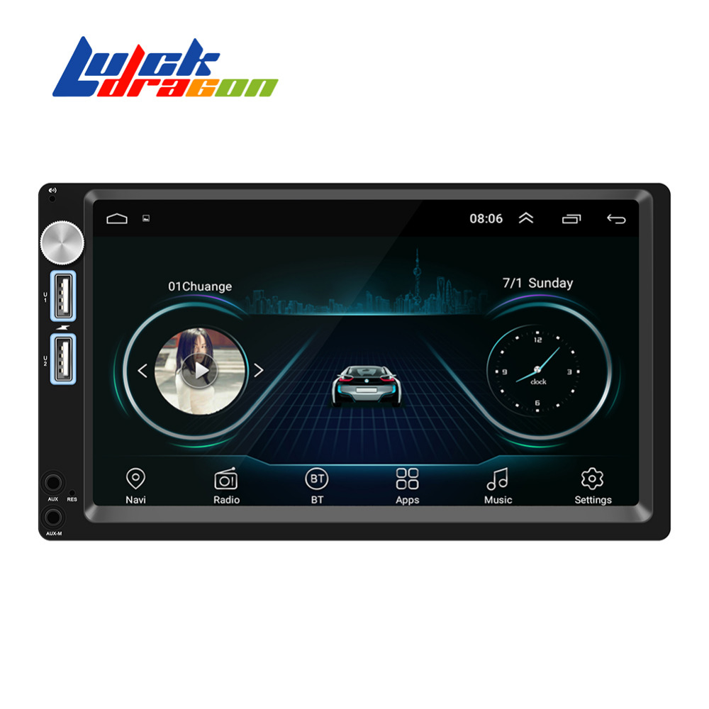 Autoradio Android 8.1 Car Audio Bluetooth Mirrorlink GPS Navigation Wifi support Driving Recorder Steering Wheel Control Radio