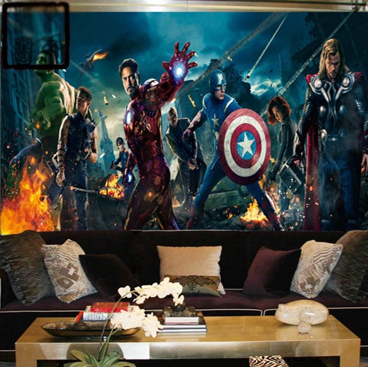Marvel Wall Mural marvel avengers heroes photo wallpaper 3d wall mural kids boys