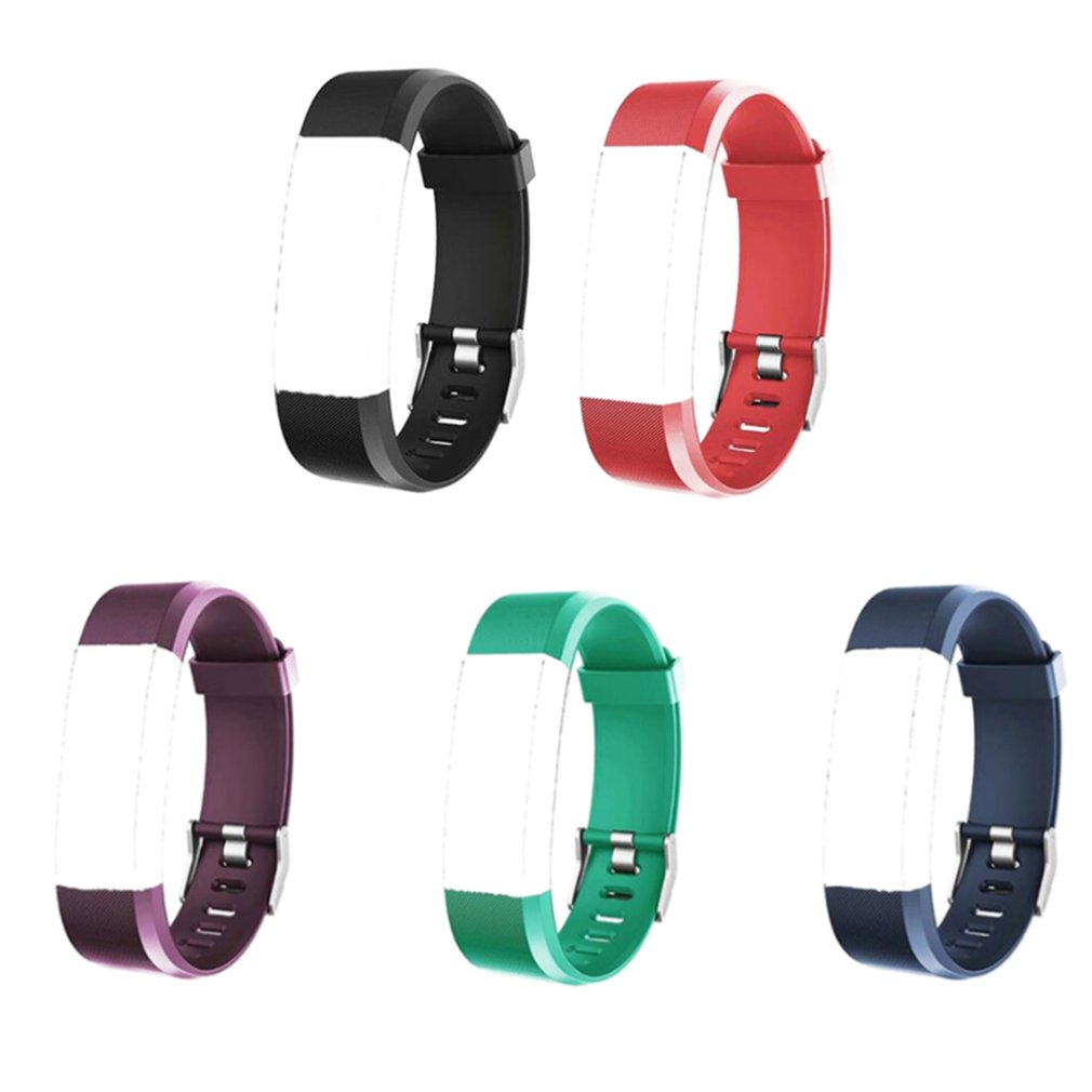 Watchband for ID115plus Smart Bracelet Call Information Reminder Heart Rate Bracelet 5 Colors Balck Blue Fashion Band Strap