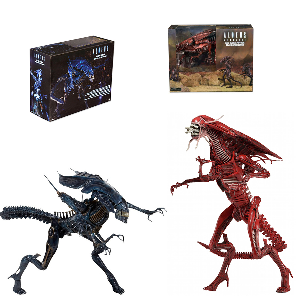 SAINTGI Alien AVP queen Predator toy Mixed human ABS 49cm Model Collectie kids MOVIE Brinquedos neca saintgi avp predator 2 alien colonial marines hunter primevil the pvc movie game cute action figure collection gifts toys neca