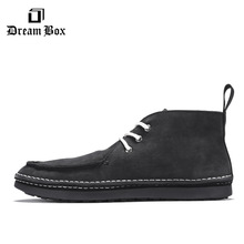 цена Men's High-top Shoes Boots European And American Retro Casual Shoes Мужская обувь онлайн в 2017 году