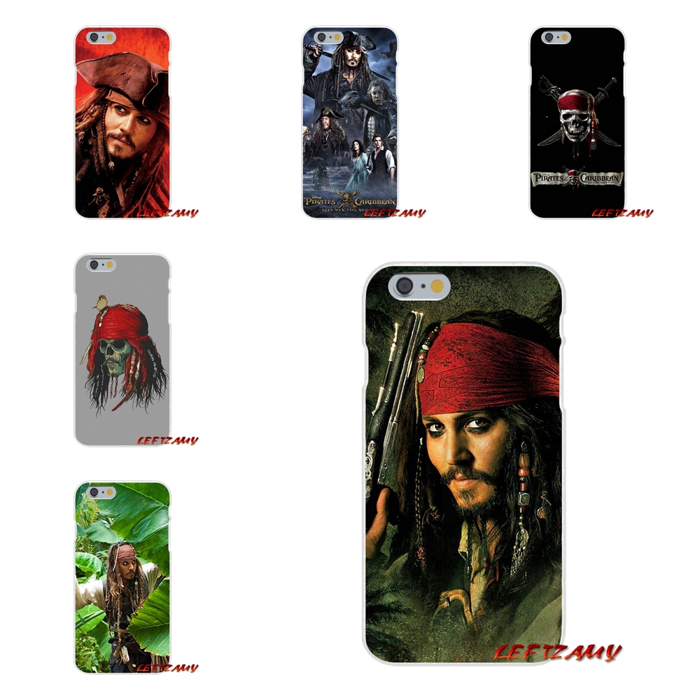 For iPhone X 4 4S 5 5S 5C SE 6 6S 7 8 Plus Accessories Phone Cases Covers Pirates of the Caribbean Johnny Depp