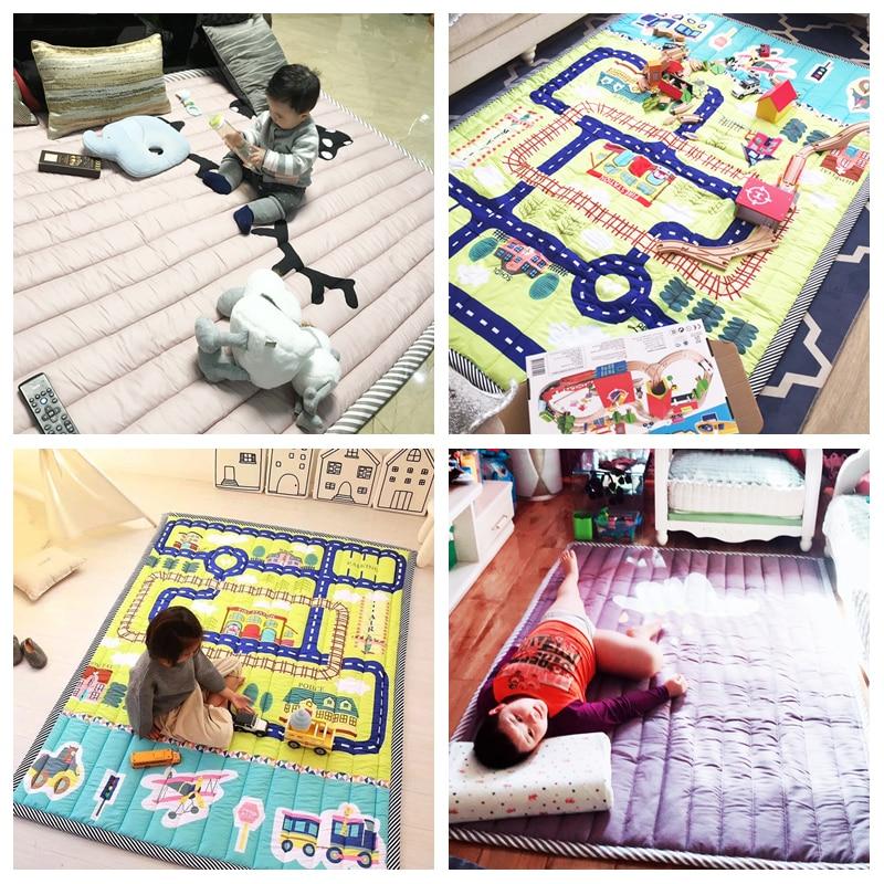 Infantile brillant 140X195 CM tapis de jeu 2 CM épaisseur bébé tapis de jeu dessin animé salon tapis antidérapant enfants chambre tapis lavable en Machine - 6