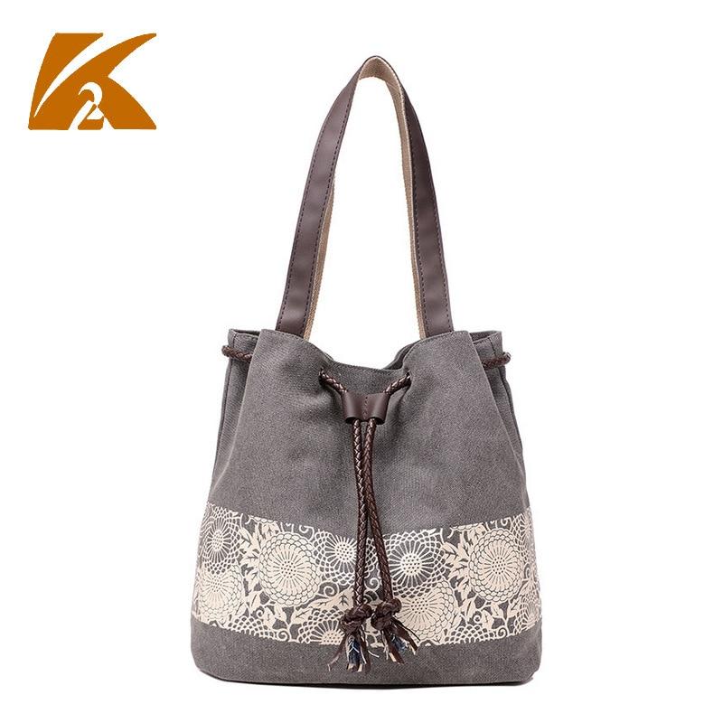 2019 Designer marque femmes sac toile sacs à bandoulière femmes sac à main dame sacs à main femme seau Vintage imprimé fourre-tout Bolsos A0243