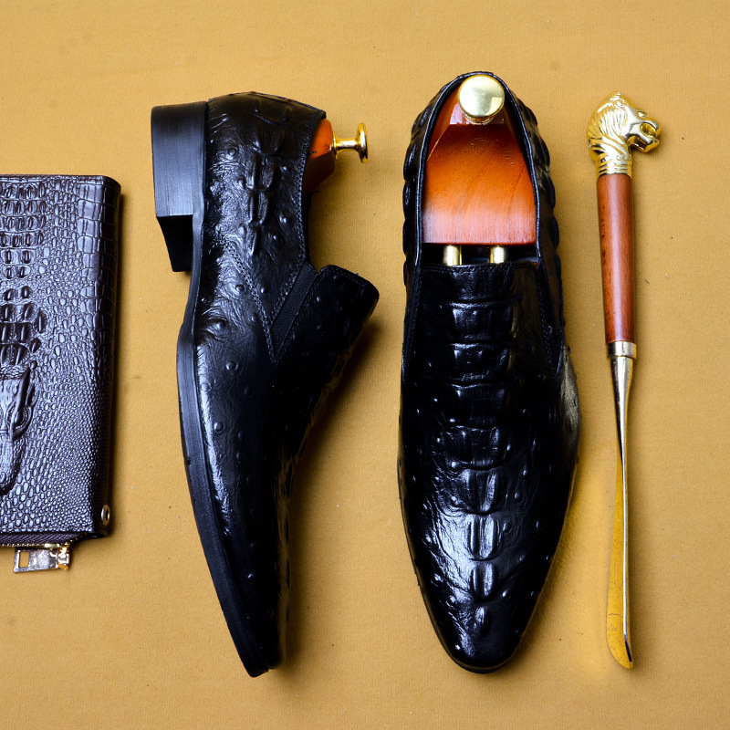 Qyfcioufu 2019 artesanal itália moda crocodilo sapatos