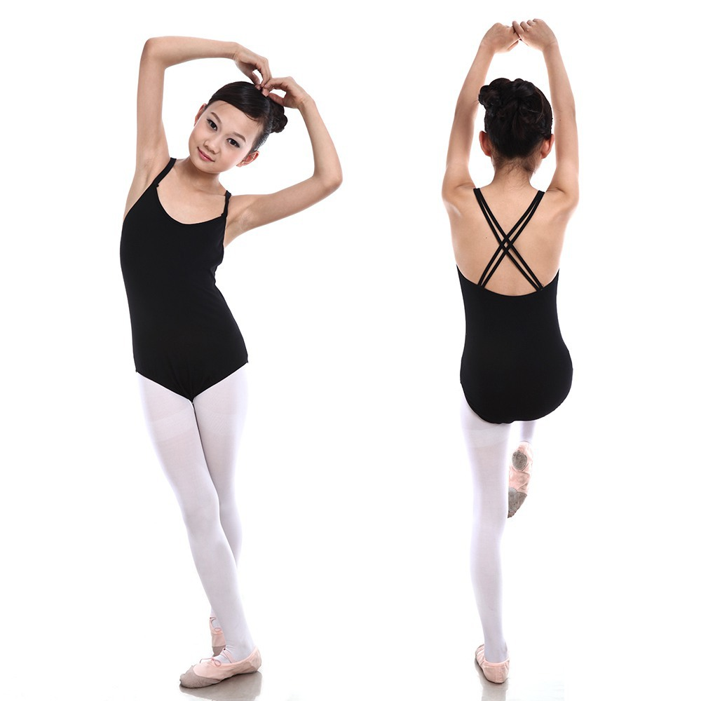Black spandex dance unitard gymnastics and dancewear - Retail Wholesales New Children Sleeveless Leotard Girl Cotton Ballet Dancewear Gymnastics Leotards China