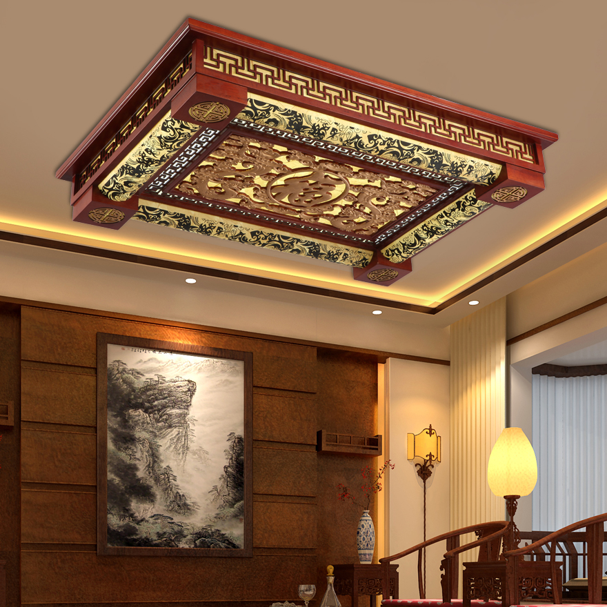 Modern Chinese wooden led Ceiling Lights led rectangular box lamp antique solid wood art restaurant hotel ceiling lamps ZA91510Modern Chinese wooden led Ceiling Lights led rectangular box lamp antique solid wood art restaurant hotel ceiling lamps ZA91510