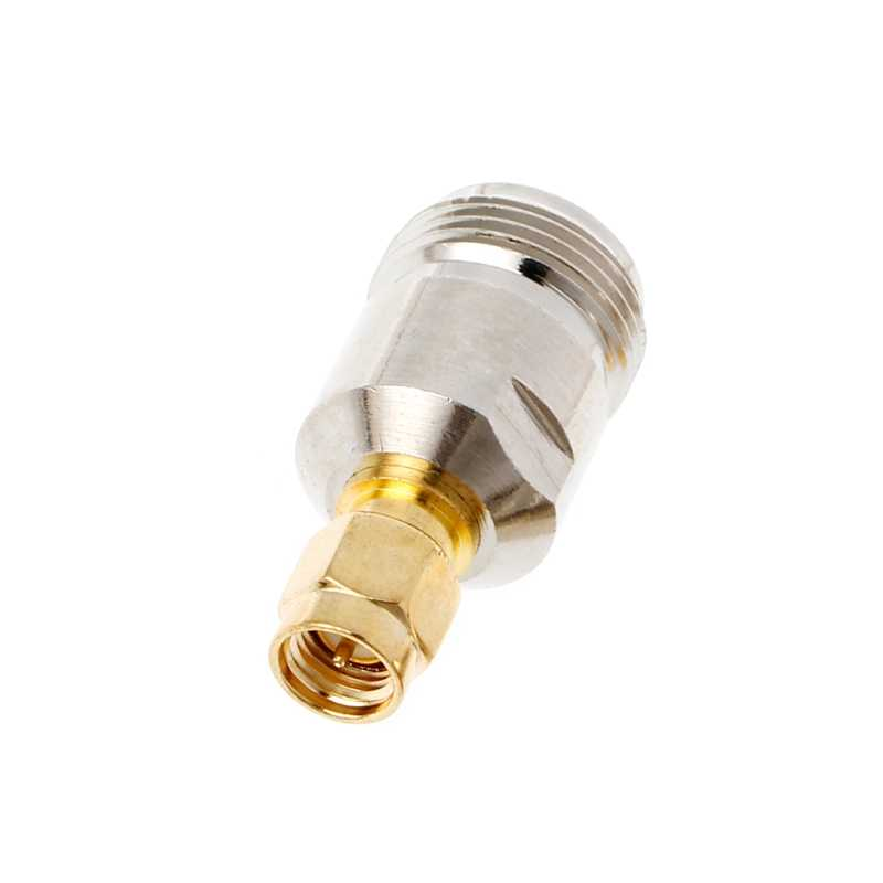 OOTDTY N Female Jack to SMA Male Plug RF Coax Adapter Convertor Straight Nickel Plated