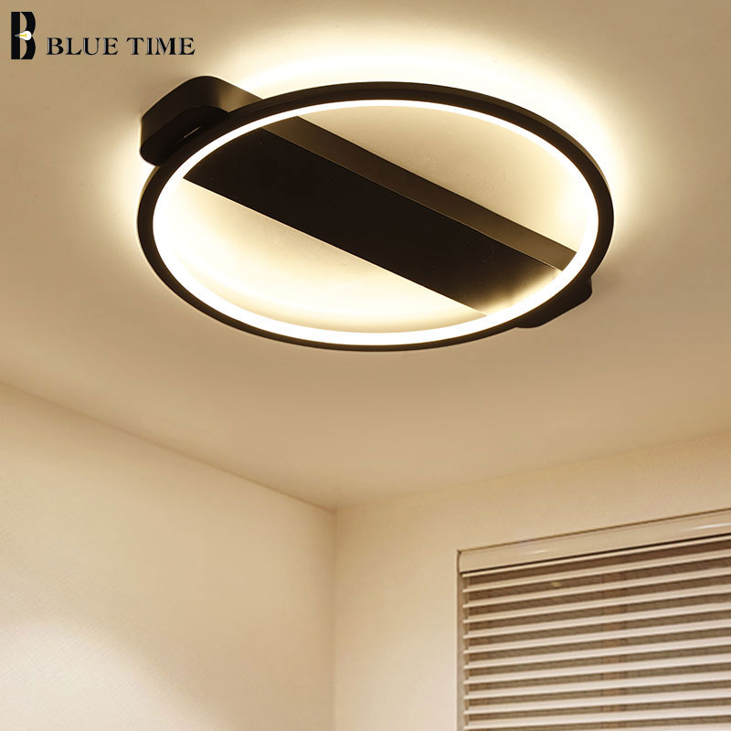 Hot Salle Modern Led Ceiling Lights For Living Room Bedroom Lamp White Finish Led Ceiling Lamp Fixtures 15-30 Square Meter 110V led ceiling lights for hallways bedroom kitchen fixtures luminarias para teto black white black ceiling lamp modern